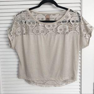 Zara Skull Lace Crop Top